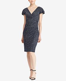Lauren Ralph Lauren Petite Flutter-Sleeve Dress