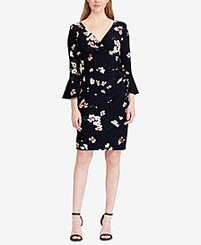 Lauren Ralph Lauren Floral-Print Flutter-Sleeve Dress