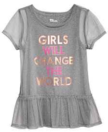 Epic Threads Big Girls Layered-Look Mesh T-Shirt, Created for Macy's