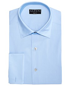 AlfaTech by Alfani Men's Solid French Cuff Slim-Fit Dress Shirt, Created For Macy's