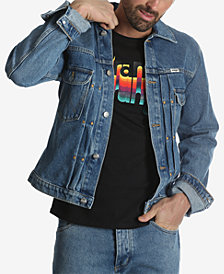 Wrangler Men's Retro Denim Logo Jacket