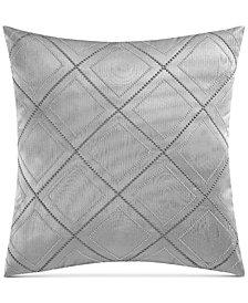 "Charisma Edienne Embroidered Faux-Silk 20"" Square Decorative Pillow"