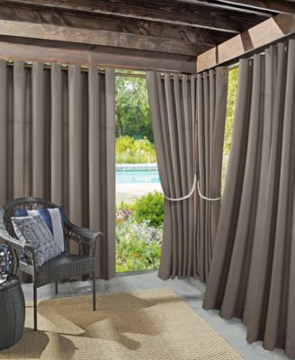 "Rutherford Solid Woven Indoor/Outdoor UV Protectant  52"" x 95"" Curtain Panel"