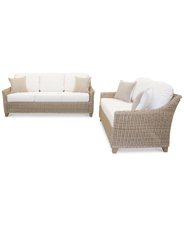 Furniture Willough Outdoor 2-Pc. Set (1 Sofa & 1 Loveseat), Created for Macy's
