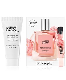 Receive a FREE 2-pc beauty gift with any $50 philosophy purchase!