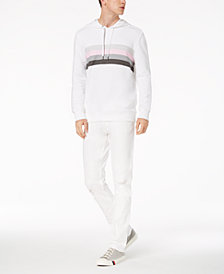 Calvin Klein Jeans Multi-Stripe Sweatshirt & White Ripped Jeans