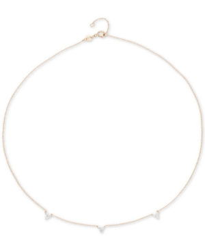 "Diamond Mini Cluster Choker Necklace (1/8 ct. t.w.) in 14k Gold, 13-1/2"" + 1"" extender, Created for Macy's -  Elsie May"