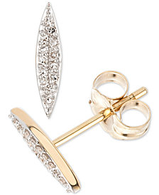 Elsie May Diamond Accent Rice Stud Earrings in 14k Gold