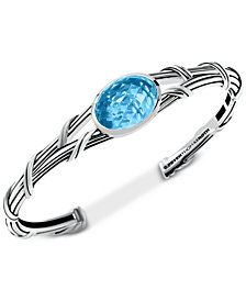 Peter Thomas Roth Blue Topaz Cuff Bracelet (13 ct. t.w.) in Sterling Silver