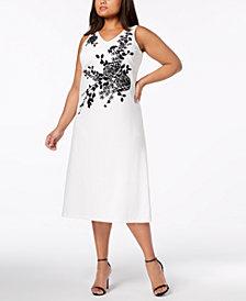 Calvin Klein Plus Size Embellished Midi Dress