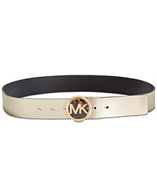 MICHAEL Michael Kors Reversible Logo-Buckle Leather Belt