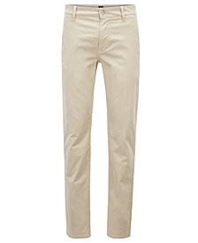 BOSS Men's Slim-Fit Brushed Chino Pants