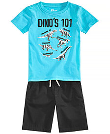 Epic Threads Toddler Boys Graphic-Print T-Shirt & Pull-On Shorts Separates, Created for Macy's