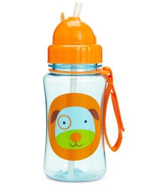 Skip Hop Dog Zoo Straw Water Bottle In Multi