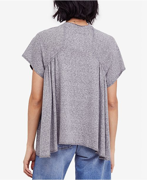 Shirt T Scoop Grey Neck Free Drapey People Nori nqYxpXwaH