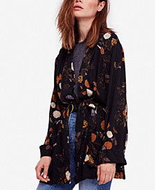 Free People Peony Floral-Print Wrap Jacket
