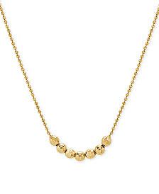 "Beaded Choker Necklace in 14k Gold, 12"" + 4"" extender"