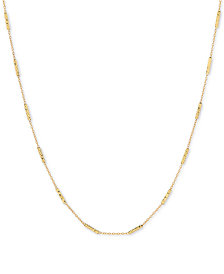 "Open Chain & Textured Bar 18"" Statement Necklace in 10k Gold"