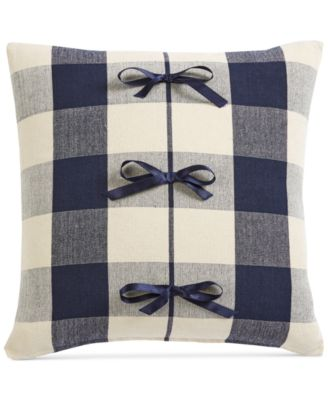 "Buffalo Check 20"" Square Decorative Pillow, Created for Macy's"