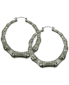 GUESS Bamboo Hoop Earrings