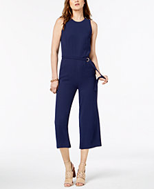 MICHAEL Michael Kors Cropped Jumpsuit in Regular & Petite Sizes