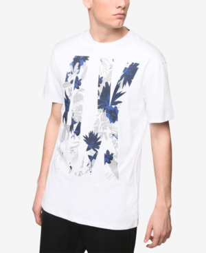 AX Armani Exchange Men's Logo Palm Tree Print T-Shirt
