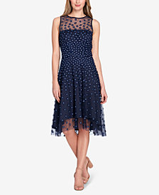 Tahari ASL Illusion Appliqué Dress