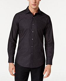 Bar III Men's Wear-Me-Out Slim-Fit Stretch Easy-Care Jacquard Floral Dress Shirt, Created For Macy's