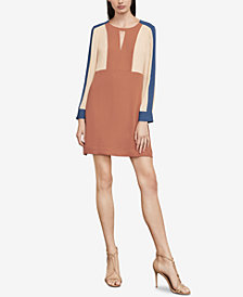 BCBGMAXAZRIA Cori Colorblocked Keyhole Dress