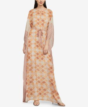 Bcbgmaxazria Terracotta Tapestry Printed Maxi Dress 6522633