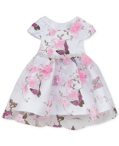 b997daaa7 Rare Editions Baby Girls Butterfly-Print Organza Dress   Reviews ...