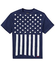 Polo Ralph Lauren Flag Cotton Jersey T-Shirt, Big Boys