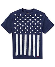 Polo Ralph Lauren Flag Cotton Jersey T-Shirt, Big Boys