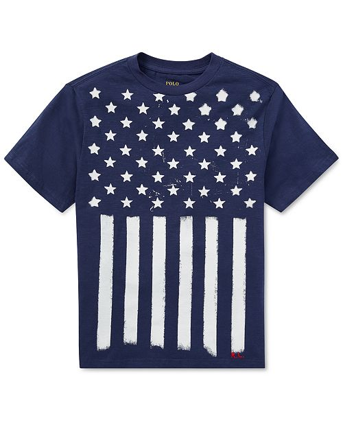 9bebf6b5397 Polo Ralph Lauren Flag Cotton Jersey T-Shirt
