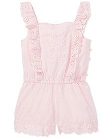 Polo Ralph Lauren Toddler Girls Ruffled Cotton Romper