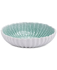 Zuo Fiore White & Green Large Bowl