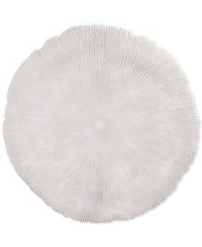 Zuo Round Coral White Large Plaque