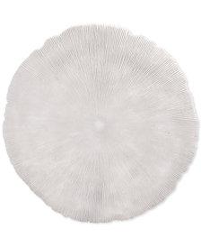 Zuo Round Coral White Medium Plaque