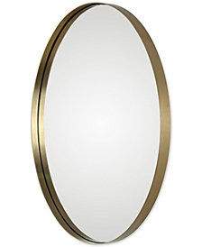 Uttermost Pursley Brass Oval Mirror