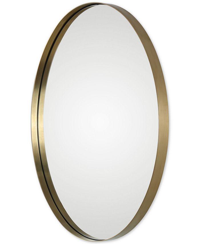 Uttermost - Pursley Brass Oval Mirror