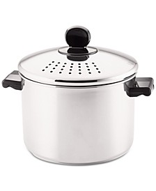 Classic Series Stainless Steel 8-Qt. Straining Stockpot & Lid