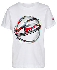 Nike Toddler Boys Basketball-Print Cotton T-Shirt