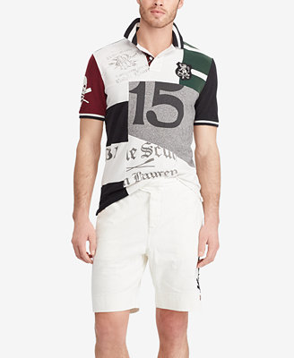 Men's Classic Fit Patchwork Cotton Polo by Polo Ralph Lauren