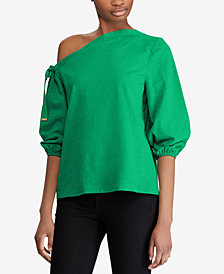 Lauren Ralph Lauren Off-The-Shoulder Cotton Top