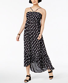 WILLIAM RAST Printed High-Low Ruffle Dress