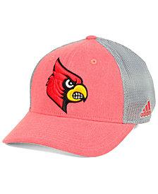 adidas Louisville Cardinals Heathered Team Flex Cap
