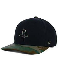 '47 Brand Houston Rockets Caster Camo MVP Cap