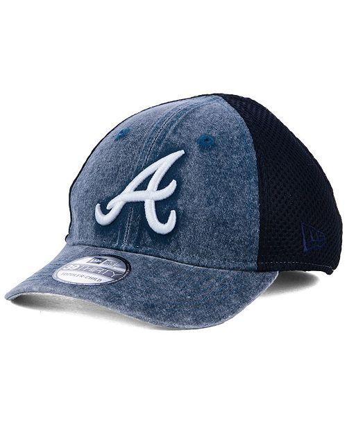 f4eb798708d New Era Boys  Atlanta Braves Jr Hooge Neo 39THIRTY Cap - Sports Fan ...