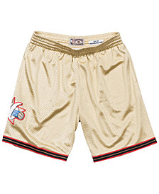 Mitchell & Ness Men's Philadelphia 76ers Gold Collection Swingman Shorts