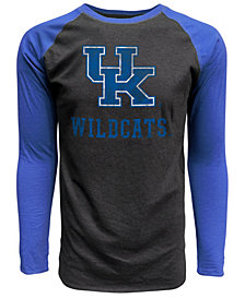 J America Men s Kentucky Wildcats Heritage Tri-Blend Long Sleeve Raglan T -Shirt 761b58b1b